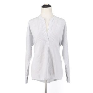 Vince | white striped cotton blouse size small